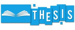 thesis-blue-stripes-book-icon-text-written-over-background-symbol-52495445